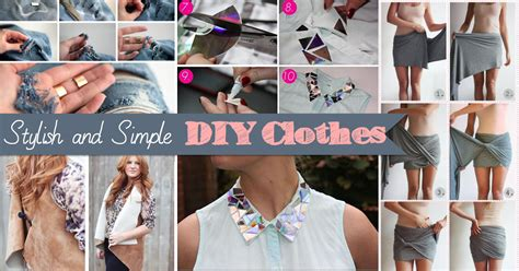 20+ Stylish And Simple Diy Clothes To Revamp Your Wardrobe