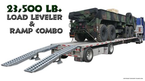 step deck trailer r and load leveler combo