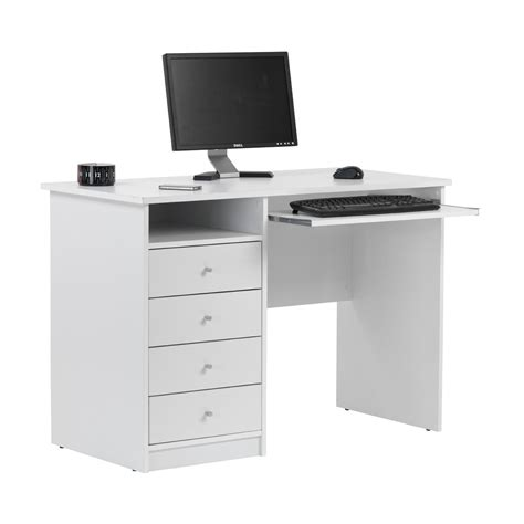 White Computer Desk  Shop For Cheap Office Supplies And. Table And Chair Rentals Miami. Desk Lamp Magnifying Glass. Pull Up Coffee Table. Child Roll Top Desk. Full Bed Frame With Storage Drawers. Old School Wooden Desk. Bamboo Desk Chair Mat. 3.25 Inch Drawer Pulls