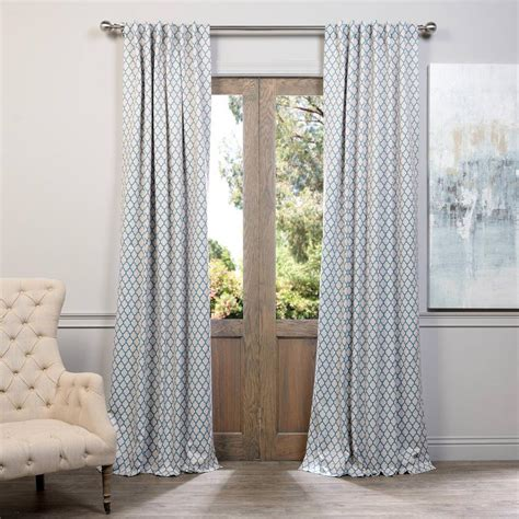 exclusive fabrics furnishings casablanca teal blackout curtain 50 in w x 120 in l pair
