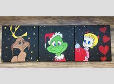 Grinch Family Canvas Painting at PaintaTreasure Studio
