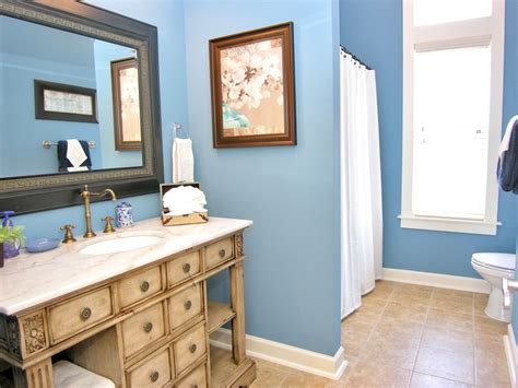 Blue Bathroom Ideas Gratifying You Who Love Blue Color Decorating A Living Room With Hardwood Floors My Needs Help Wall Decor Tips Modern Track Lighting Chairs Swivel Rocker Leather Furniture The Shelter Wine Storage