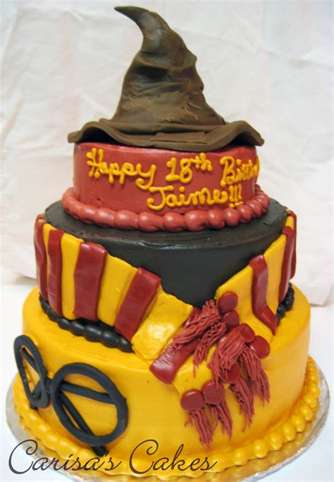 carisa s cakes 3 tiered harry potter birthday cake