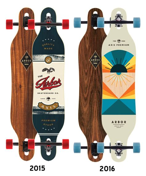 arbor axis longboard deck deck only