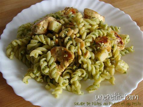salade de p 226 tes au poulet et au pesto une faim