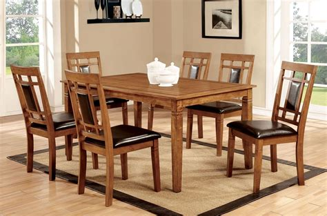 Freeman I Light Oak 7 Piece Dining Room Set From Furniture