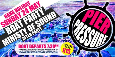Boat Party Tower Pier by Pier Pressure Boat Party London Ministry Of Sound After
