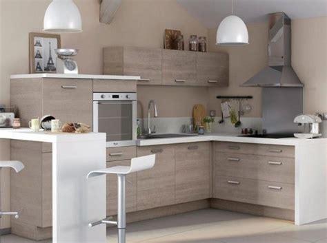 cuisine bois plan de travail blanc castorama maison cuisine design