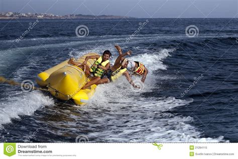 People On A Boat by People On A Banana Boat Stock Image Image Of Face Boat