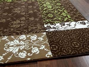 Braun Und Grün Ergibt : designer teppich passion braun gr n patchwork teppiche designerteppiche passion teppiche ~ Markanthonyermac.com Haus und Dekorationen