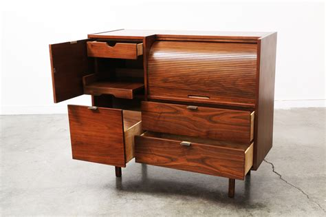mid century roll top storage cabinet by vintage supply store