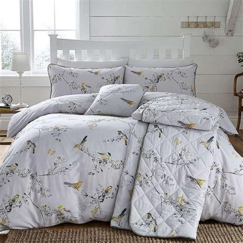 Beautiful Birds Ochre Bed Linen Collection Dunelm