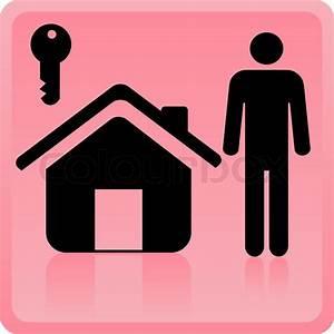 Icon Haus Preise : icon der person in der n he des hauses mit einem schl ssel stock vektor colourbox ~ Markanthonyermac.com Haus und Dekorationen