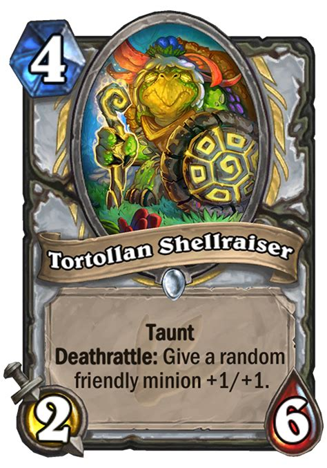 tortollan shellraiser hearthstone card