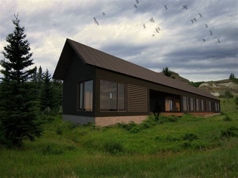 Longhouse Dogtrot   Studio   Modern   Rendering   portland maine   by Eric Reinholdt, Architect