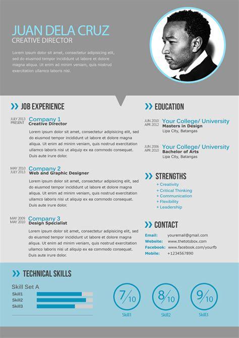 modern resume template information