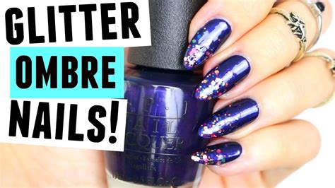 Glitter Ombre Nail Art Tutorial! New Years Eve Nails