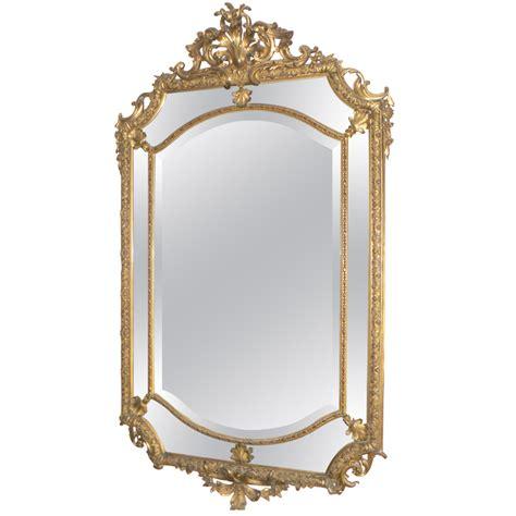 ancien miroir glace parecloses bois dor 233 epoque xixeme style louis xiv napoleon iii miroirs