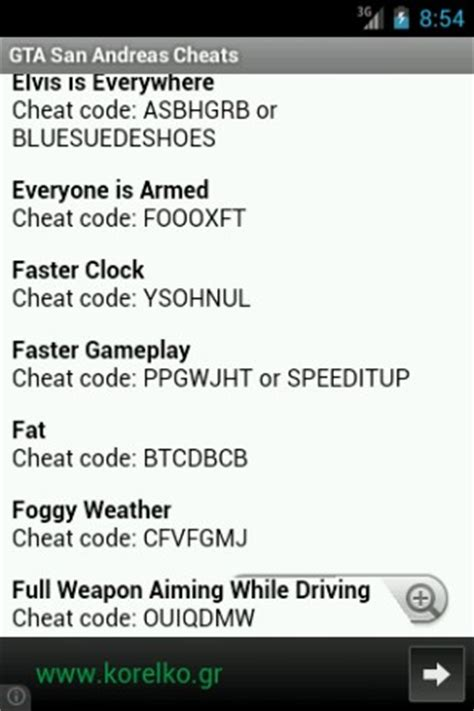 Cheat Code For Boat In Gta San Andreas by Download Gta San Andreas Cheats For Android By Gt Cheats