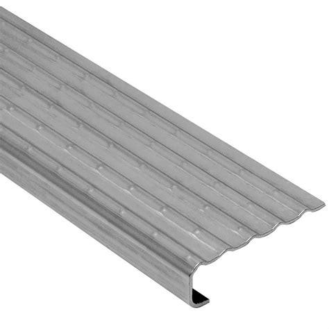 schluter trep ek stainless steel 1 8 in x 8 ft 2 1 2 in