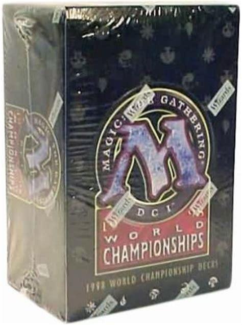 1998 world chionships box with 12 decks mtg magic