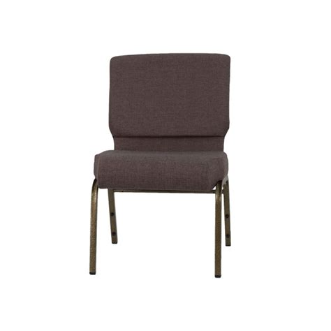 hercules series 21 w stacking church chair in brown fabric gold vein frame fd ch0221 4 gv
