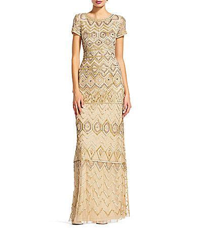 Adrianna Papell Beaded Boat Neck Cap Sleeve Gown by 53 Best Mother Of The Groom Dresses Images On Pinterest