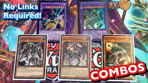 ancient gear deck combos august 2017 no link monsters required