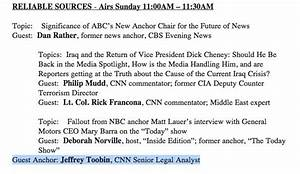 Reliable Sources guest host… Jeff Toobin – CNN Commentary