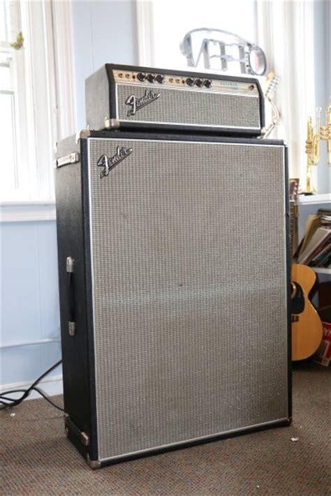 fender bassman silverface 1968 w 2x15 cabinet reverb