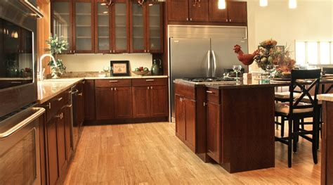 The Pros & Cons Of Bamboo Flooring Kitchen Island Build Space Saving Ideas For Small Kitchens White Wood Grain Cabinets Outdoor Spaces Table Leg Triangle Design Photos