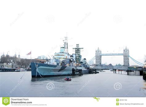 Boat Prices From Belfast To England by Hms Belfast Battleship River Thames London Uk Royalty Free