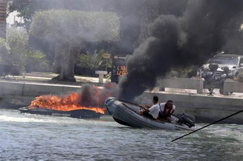 Fire Boat Ibiza by Jet Ski And Boat Burst Into Flames In Ibiza Inferno