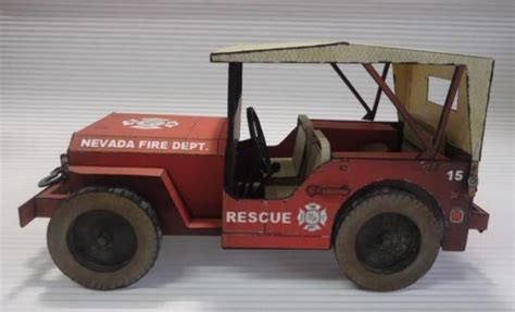 Jeep Willys Fire Brigade Paper Model
