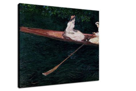Boating On The River Epte by Boating On The River Epte Reprodukcia Claude Monet Zs17708