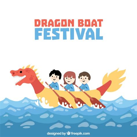 Dragon Boat Festival Vector by Nice Dragon Boat Festival Background Vector Free Download