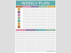 The Ultimate Weekly Planning Worksheet with FREE Printable