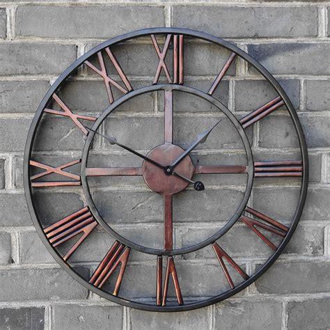 pas cher surdimensionn 233 3d r 233 tro romaine vintage en fer forg 233 grande horloge murale d 233 corative