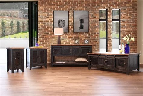 international furniture direct pueblo rustic sofa table