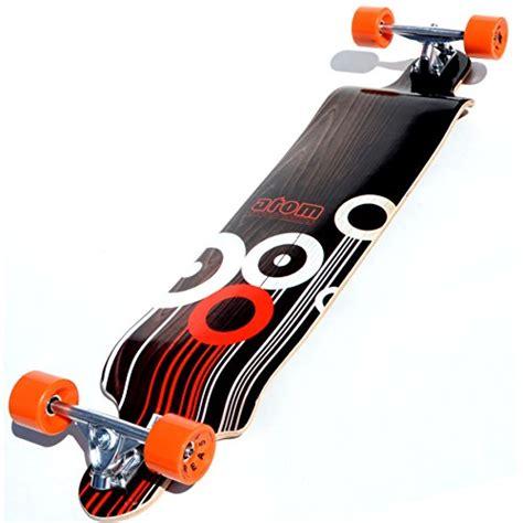 atom drop deck longboard orange 41 inch