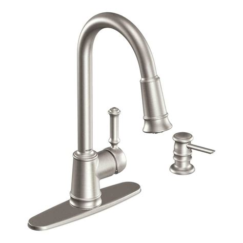 moen lindley single handle pull sprayer kitchen