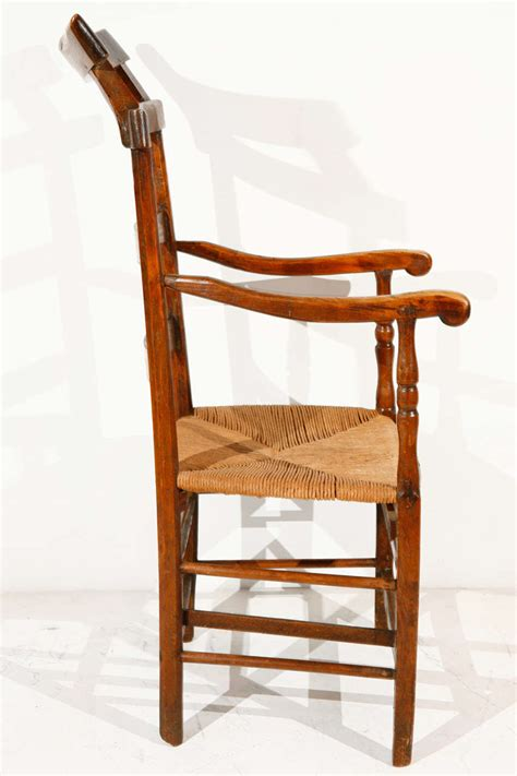 ladder back oak and elm chair with seat at 1stdibs