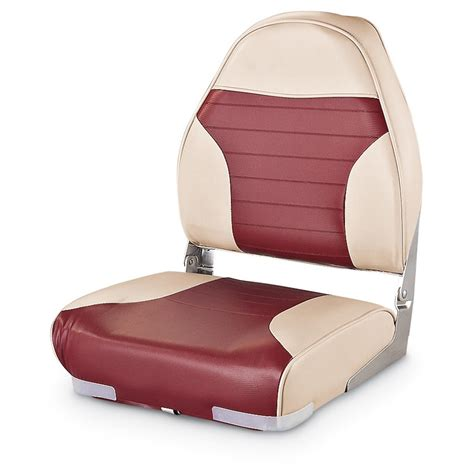 Red Fishing Boat Seats by Guide Gear High Back Folding Boat Seat 217024 Fold Down