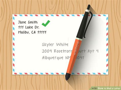 The Easiest Way To Send A Letter In The Mail  Wikihow. Resume For Nurse. Add Picture To Resume. Legal Assistant Resume Cover Letter. How To Write Objective Resume. 100 Free Resume Builder. Make Your Resume Stand Out. How To Set Up A Reference Page For A Resume. How To Make Resume Stand Out Online