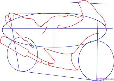 How To Draw A Sport Bike, 2006 Suzuki Katana 600, Step By