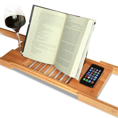 bath caddy with reading rack australia bathtub reading tray with wine holder book holder and