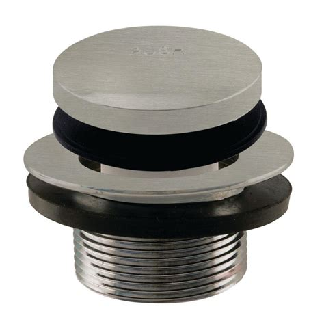 home depot bathtub stopper westbrass 3 in tip toe bath drain and stopper coarse