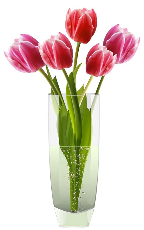pink tulips vase png clipart places to visit