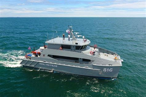 How Does A Catamaran Ferry Work by Royal Thai Police Take Delivery Of 24m Catamaran Patrol Boats