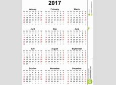 Calendar For 2017 Year – Printable Calendar 20182019